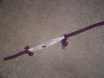 9.6 mm rope barely survives a rock strike
