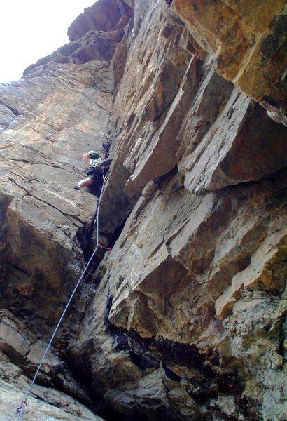 Rock Climbing Photo: My first .10 lead.  Fun route.