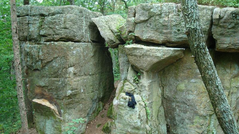Rock Climbing Photo: Smack crack wall