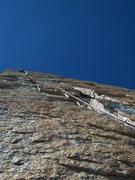Rock Climbing Photo: The crux pitch of Ariana....