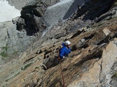 Rock Climbing Photo: Rob following P2/3 of Pervertical...