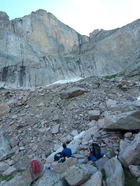 Rock Climbing Photo: The view from the bivy...