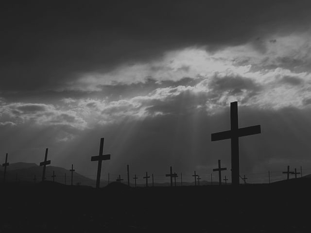 The cemetery at Columbus, Nevada