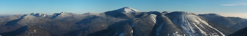 The Great Range from Wright Mountain in Adirondack Park NY.