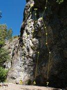 Rock Climbing Photo: Membrane Wall 5. Caress of Steel 5.10a  6. Steel M...