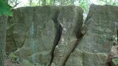 Rock Climbing Photo: press it out boulder.