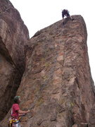 Rock Climbing Photo: 2006 at sprocket rocks.  Don't remember the route ...