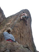 Rock Climbing Photo: Another 2006 gypsy moth adventure.  route name esc...