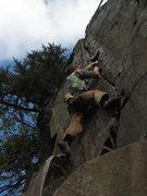 Rock Climbing Photo: Climbing Skin of Rod's Teeth.  Love this line!