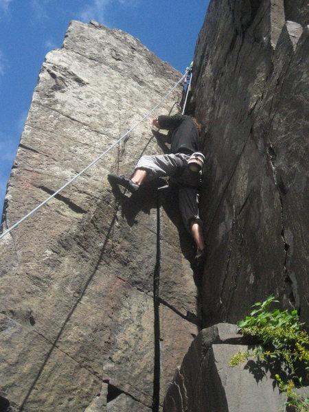 Kyle climbing Thrombus