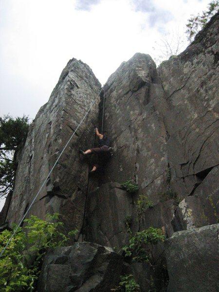 Kate climbing Thrombus