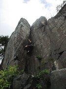 Rock Climbing Photo: Kate climbing Thrombus