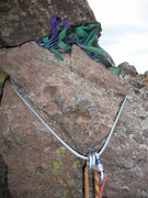 "Rock Climbing Photo: New anchor cable. 5/16"" steel cable rated at ..."