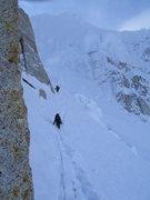 """Rock Climbing Photo: Along the traverse towards the base of the """"E..."""