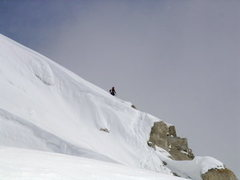 Rock Climbing Photo: Ascending the right of the cornice