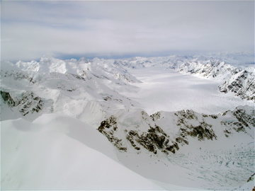 Looking down the Kahiltna from the West Ridge