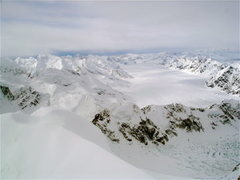 Rock Climbing Photo: Looking down the Kahiltna from the West Ridge