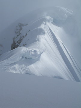 Rock Climbing Photo: Approaching High Camp on the West Ridge