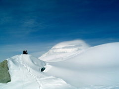 Rock Climbing Photo: Looking back towards Foraker in lenticular cloud f...