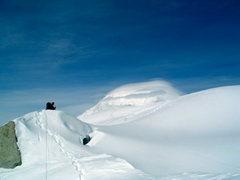 Rock Climbing Photo: Looking back towards Foraker in lenticular cloud f...