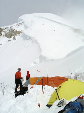 "The ""Shield""above High Camp"