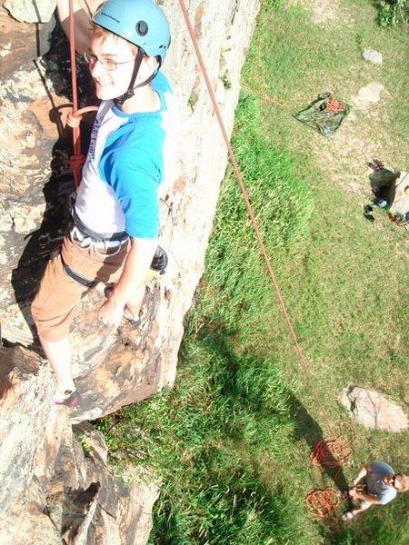 Rock Climbing Photo: TR' at Owens Rock, Plainfield WI.