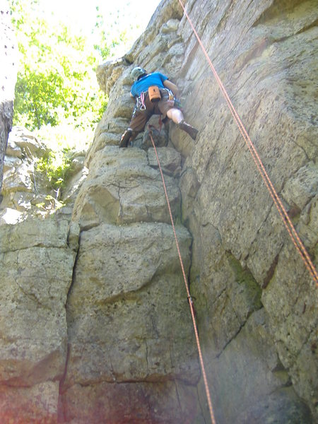 Rock Climbing Photo: First Trad Lead!