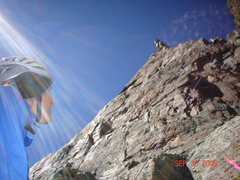 Rock Climbing Photo: The last rap.