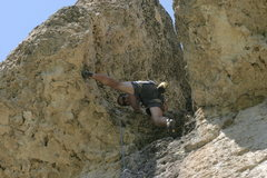 Rock Climbing Photo: Jon letting it all hang out.