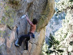 Rock Climbing Photo: The lower section of the route with some fun and e...