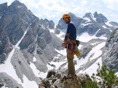 Rock Climbing Photo: top of Irenes arete, tetons