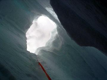 Crevasse escape hole