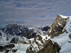 Rock Climbing Photo: Moose's Tooth from the Upper Eldredge Glacier