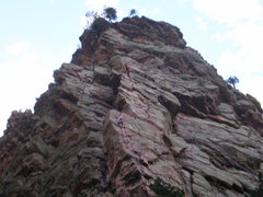 Rock Climbing Photo: Wind Ridge, climber just before the 1st belay ledg...