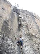 Rock Climbing Photo: The Itch, Gold Wall, X Rock.