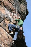 Rock Climbing Photo: the upper crux of Fred P. Jones, the best route on...