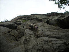 Rock Climbing Photo: 5.10D at potash mountain in the Dacks