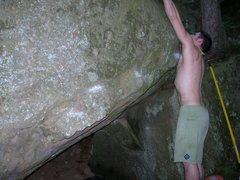 Rock Climbing Photo: starts on obvious kinda sharp jug towrds left of p...