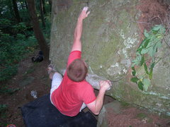 Rock Climbing Photo: danny going for the crimp. its farther than it loo...