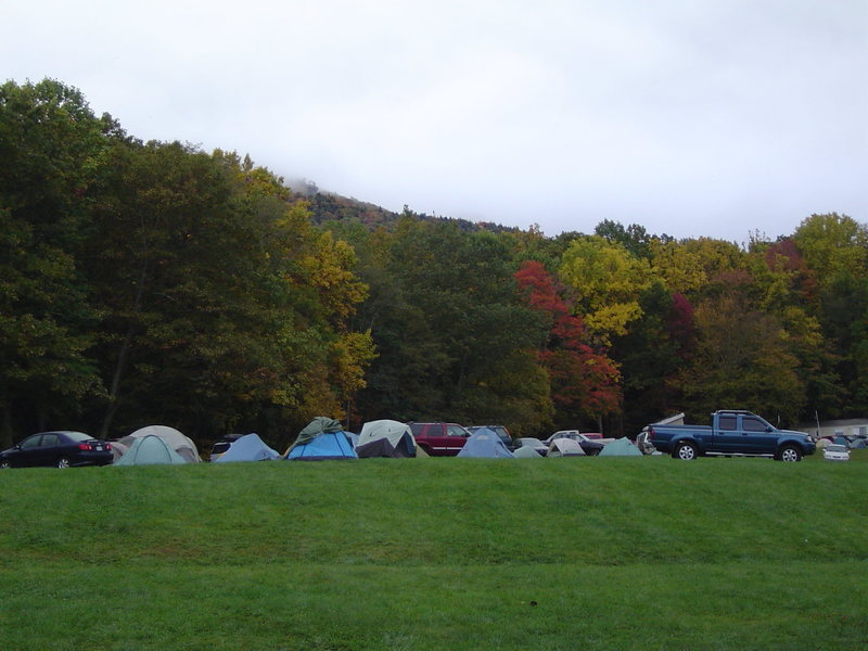 Rock Climbing Photo: Camping scene at the Triple Crown, Hound Ears, Oct...