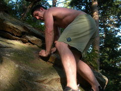 Rock Climbing Photo: notice the hold im on and the giant crack under it...