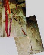 Rock Climbing Photo: Anchors of 1st pitch below...