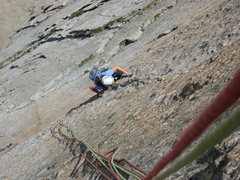 Rock Climbing Photo: The half circle pitch.