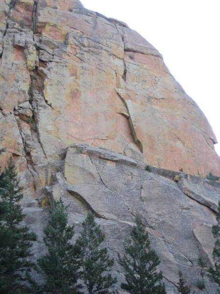 Rampart is the striking, left-facing dihedral in the middle of the upper face.