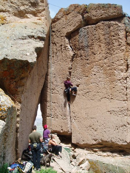 here's a pic of AC/DC crack with Window Crack immediately to climber's left. Both are a lot of fun.