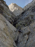 Rock Climbing Photo: Louis Arevalo stemming his way up to the Chockston...