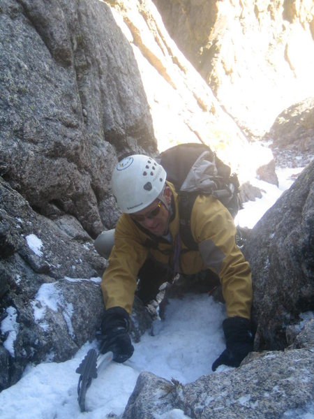 Rock Climbing Photo: There is a little ice in there!