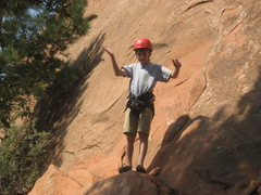 Rock Climbing Photo: Braydens first climb in Colorado Springs