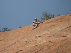 Rock Climbing Photo: Brayden at the top