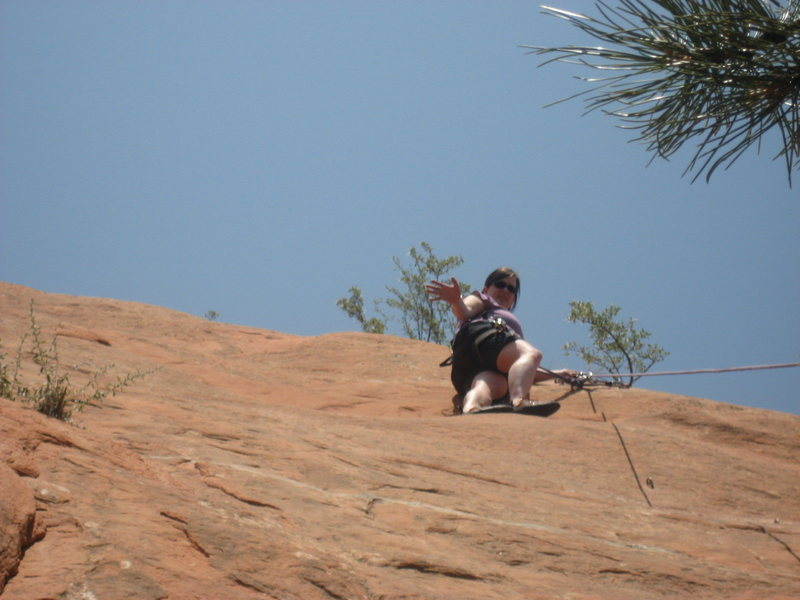 Rock Climbing Photo: Me at the top. Doin' all right!!